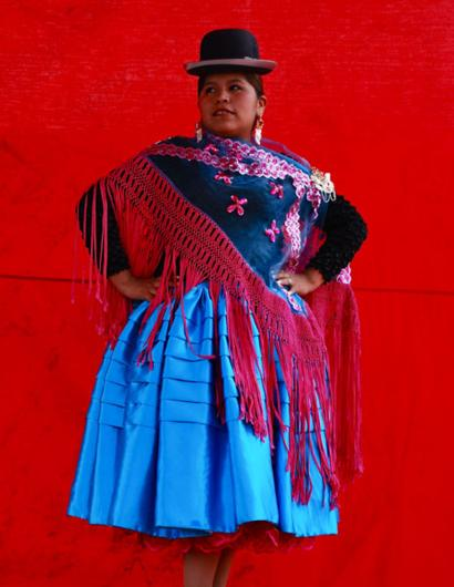A Cholita in full dress
