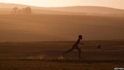 Boy playing in Qunu