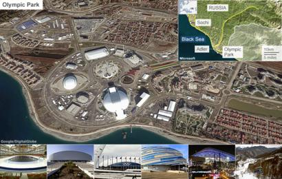 Map of the Sochi Olympic venues