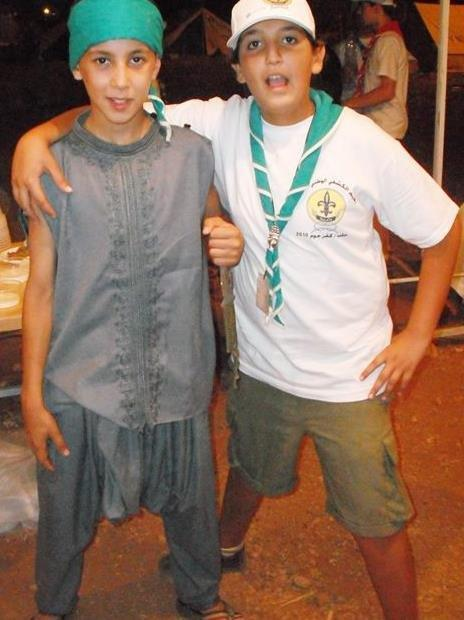 Saad and his friend in the Syrian scouts