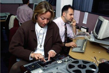 BBC Newsroom in 1994
