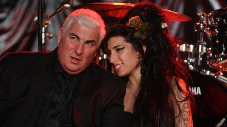 Mitch Winehouse with daughter Amy