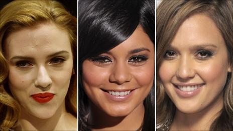 Scarlett Johansson, Vanessa Hudgens and Jessica Alba