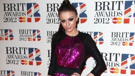 Cher Lloyd at Brit awards
