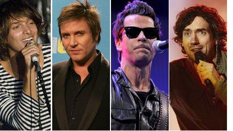 Singers of Duran Duran, Stereophonics, Paolo Nutini and Snow Patrol