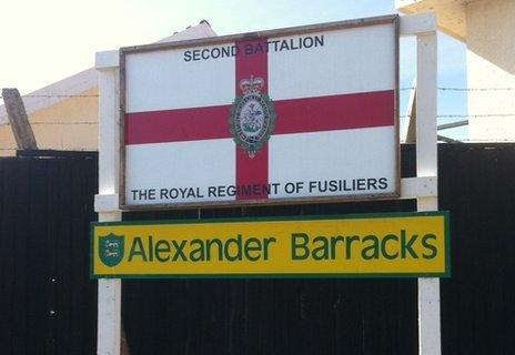 Fusiliers' barracks in Dhekelia