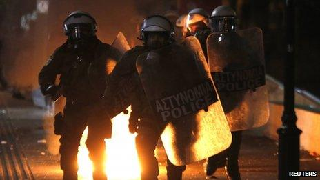 Riot police in Athens
