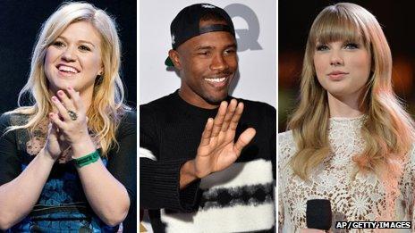 Kelly Clarkson, Frank Ocean and Taylor Swift