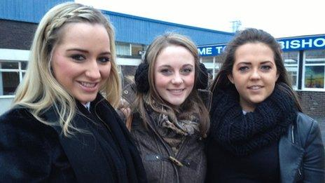 Holly Bowen, Helena Blundell and Amy Atherton