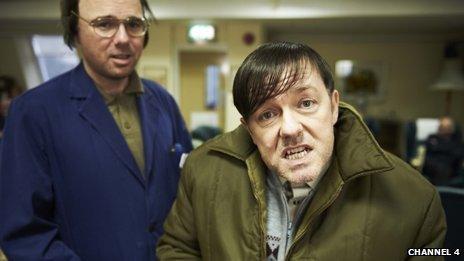 Ricky Gervais poses Derek