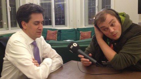 Ed Miliband and Dave Howard