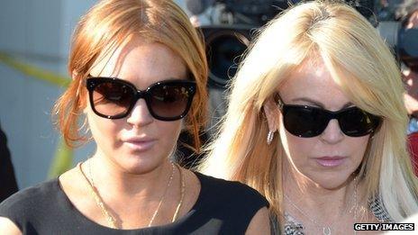 Lindsay Lohan and mum Dina