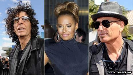 Howard Stern, Mel B and Howie Mandel