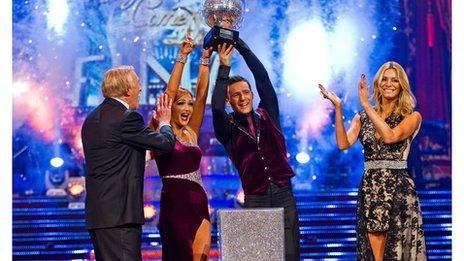 Harry Judd winning Strictly Come Dancing in 2011