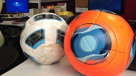 Balls on desk at Hawkeye