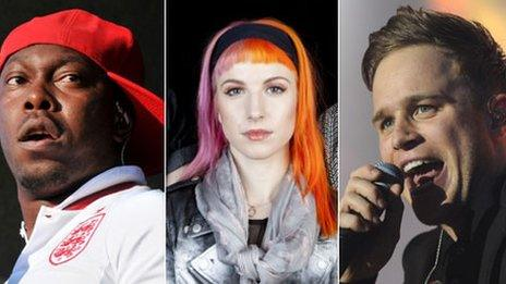 Dizzee, Paramore and Olly