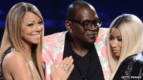 Mariah Carey, Randy Jackson, and Nicki Minaj