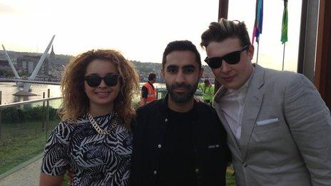 Ella Eyre, Rudimental's Amir Amor and John Newman, vocalist on Feel The Love