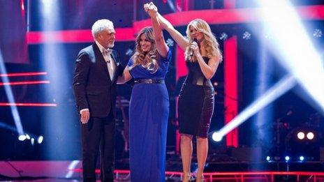Sir Tom Jones, The Voice winner Leanne Mitchell and presenter Holly Willoughby