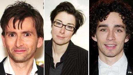 David Tennant, Sue Perkins and Robert Sheehan