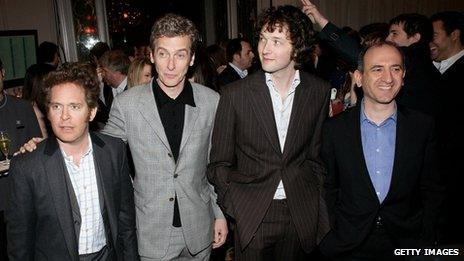 Tom Hollander, Peter Capaldi, Chris Addison and Armando Iannuci