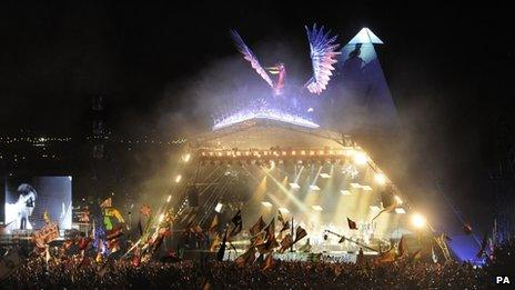 Pyramid Stage at Glastonbury 2013