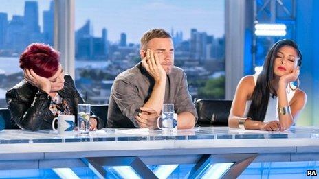 Sharon Osbourne, Gary Barlow and Nicole Scherzinger