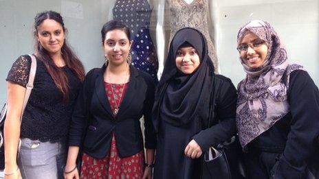 Chanpreet Walia, Satnam Rooprai, Nasima Begum and Nabilah Yasmin