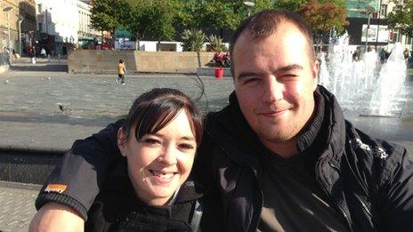 Anja Spittal, 28, and Chris Bruckshaw, 29