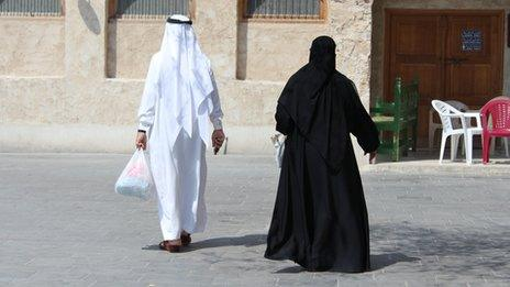 Man and woman in Qatar
