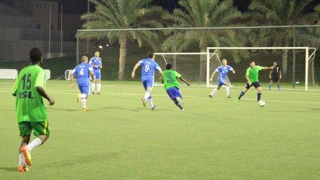 Qatari International Amateur Football League match