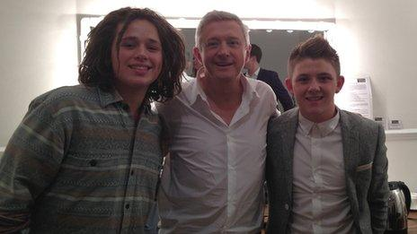Luke Friend, Louis Walsh and Nicholas McDonald