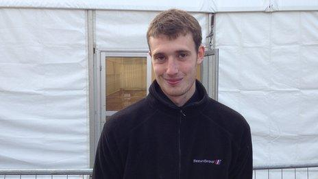 Andrew Fulton, 22, conference security guard