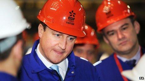 David Cameron at Hinkley Point B
