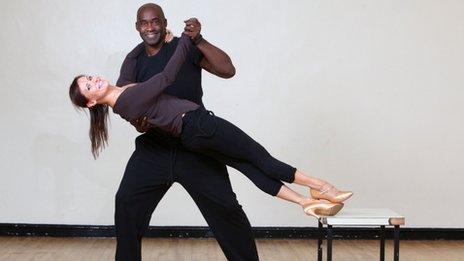 Patrick Robinson with dancing partner Anya Garnis