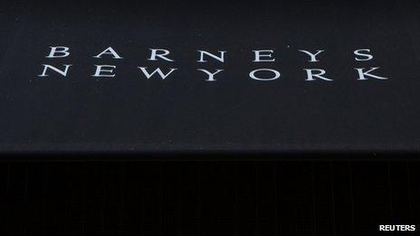 Barney's sign in New York