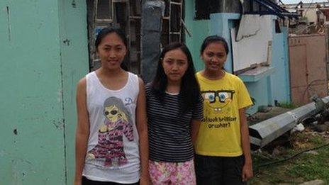 Christine, Coreen and Joyce Garado (r-l)