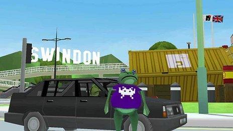Screenshot of amazing frog game