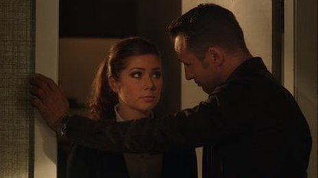 Actors Nikki Sanderson and Jeremy Sheffield