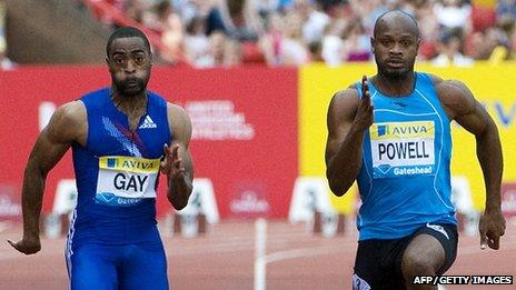 Tyson Gay and Asafa Powell