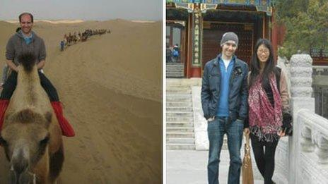 Nick visited many places around China whilst working out there