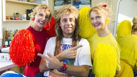 Pat Sharp with Melanie and Martina