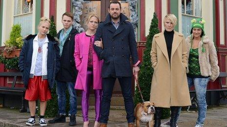 Danny Dyer and his EastEnders 'Carter family'