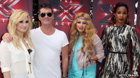The X Factor USA panel