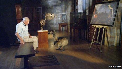 Sir David Attenborough and a CGI dodo