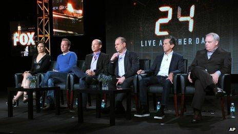 The cast and crew of 24: Live Another Day attend a press conference.