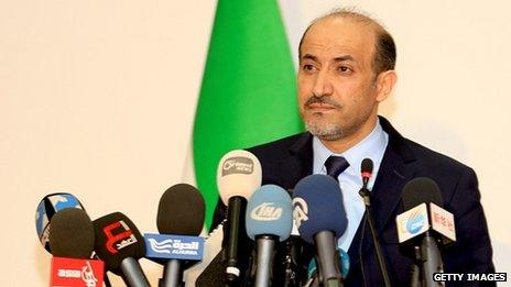 Syrian National Coalition president Ahmad Jarba