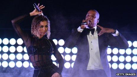 Beyonce and Jay Z performed at the Grammys