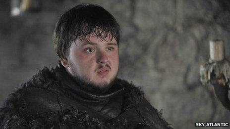 John Bradley-West as Samwell Tarly