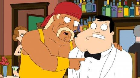 Cartoon Hulk Hogan in American Dad